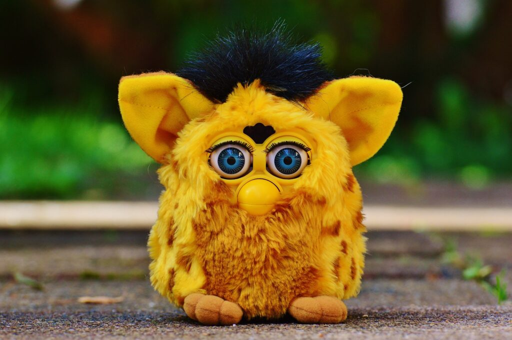 comparison of a furby to how popular video content is in content marketing