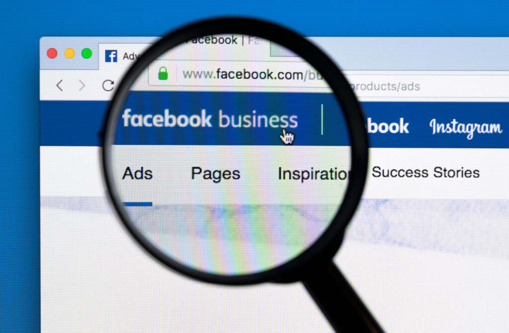 Facebook business page for marketing